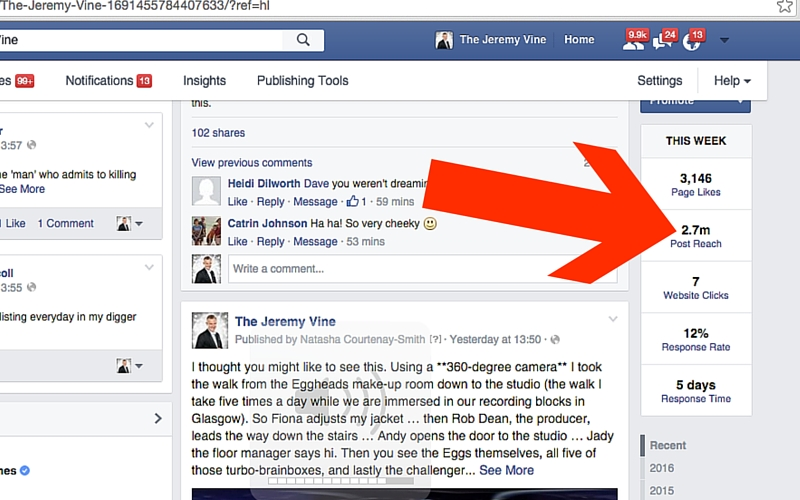Facebook reach: secrets of a 2.7 MILLION people page reach